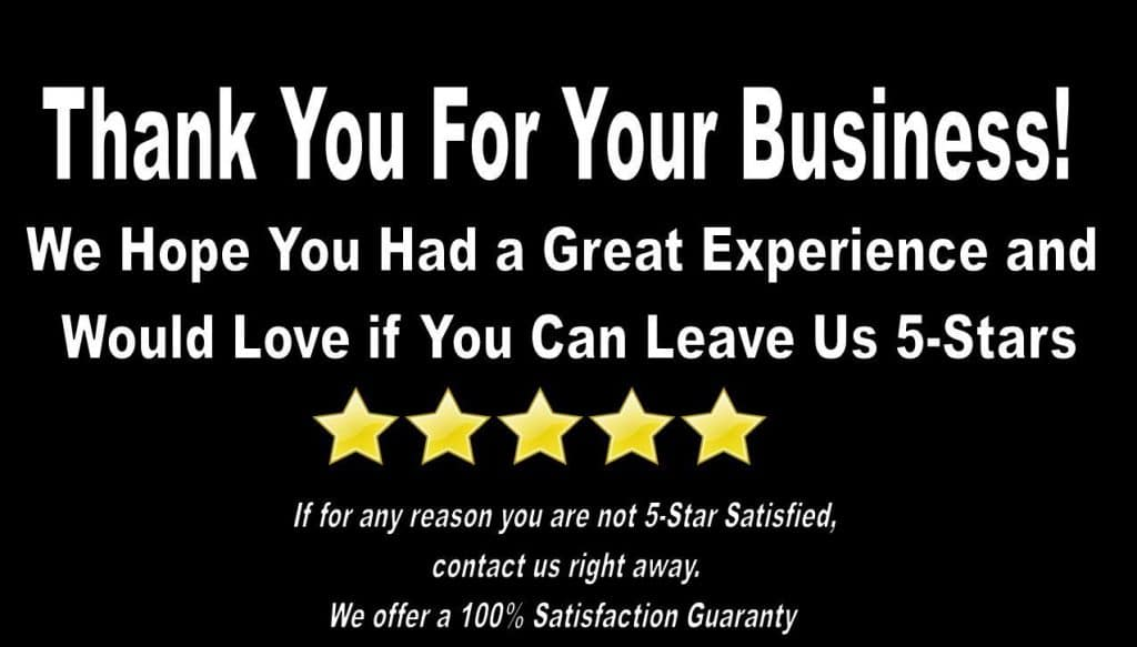 Thank You for Your Business